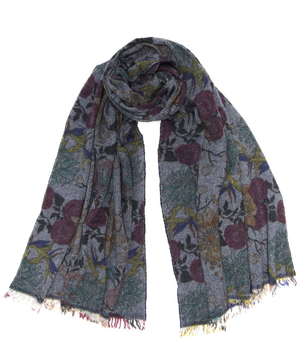 mixed cashmere scarf leopolda - made in italy