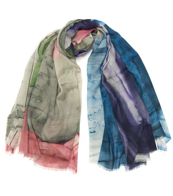woman stole in mixed cashmere