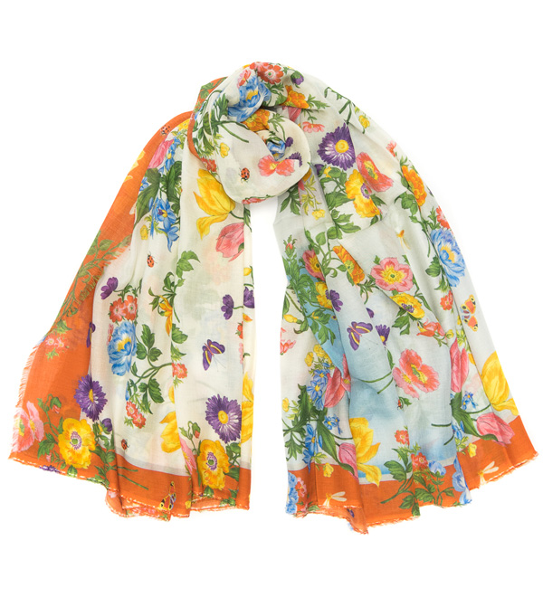 Woman stoles in mixed cashmere on sale online