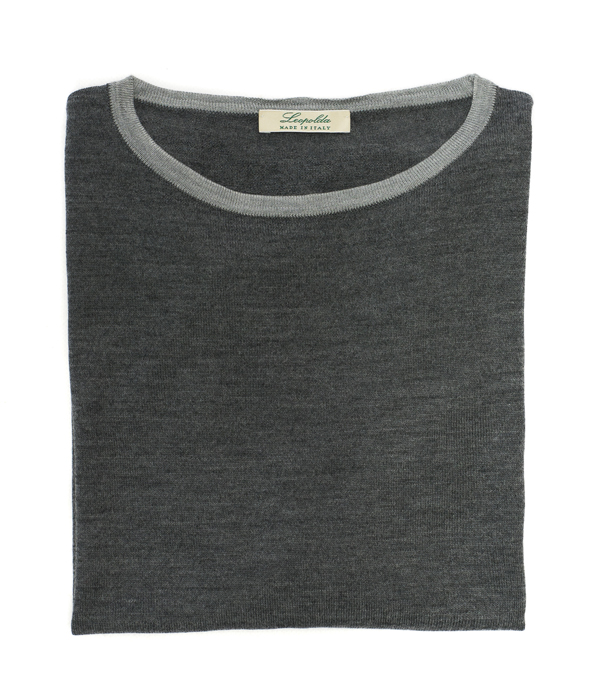 crew neck merinos pullover made in italy