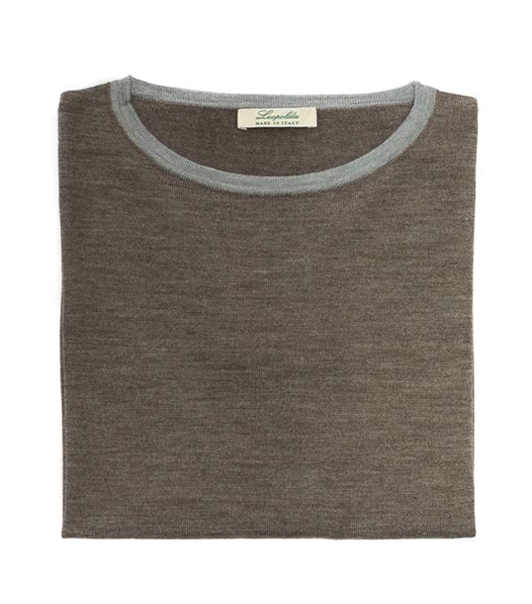 bicolor merinos knitwear made in italy