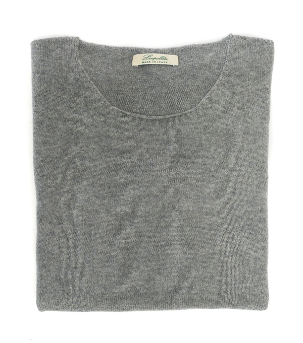 crew neck cashmere pullover made in italy