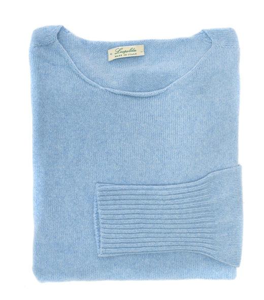 over maglia 100% cashmere italiano taglia unica colore celeste