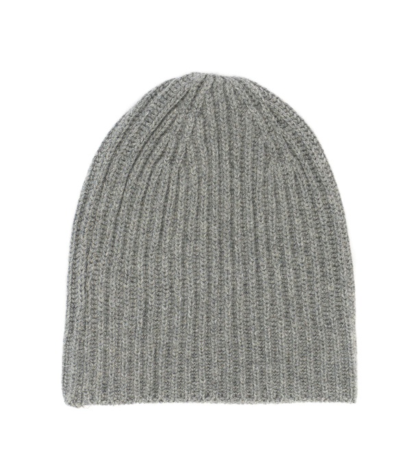 100 % cashmere hat color grey made in italy by Leopolda