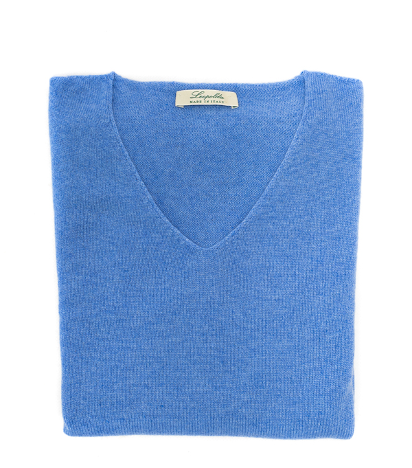 v neck cashmere pullover made in italy