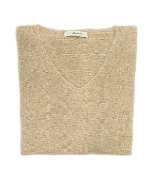v neck cashmere pullover made in italy collection