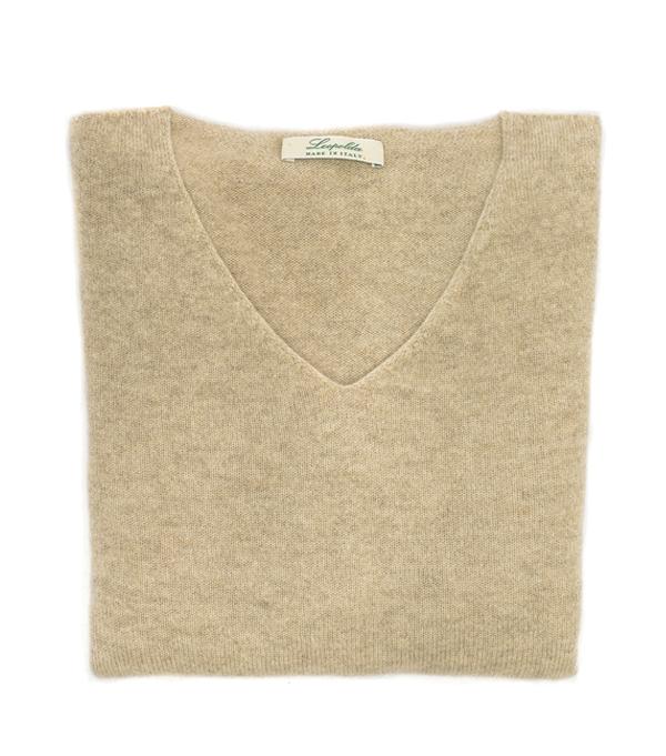 maglia scollo v cashmere - Leopolda manifatture artigiane