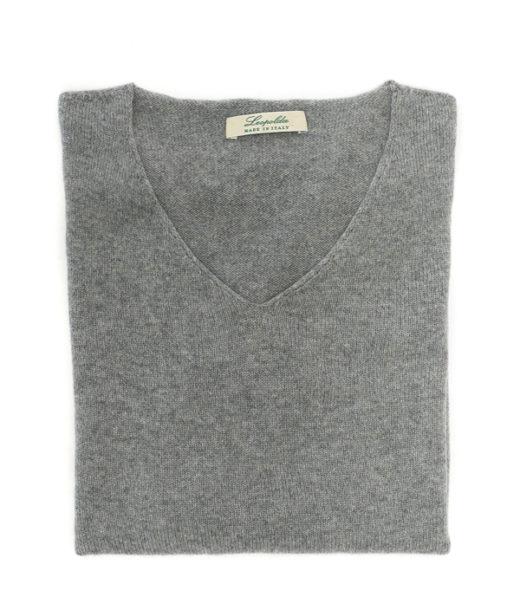 maglia scollo v in puro cashmere di leopolda italia