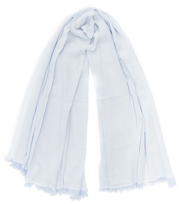 wide mixed stole in virgin wool, modal and cashmere by Leopolda made in Italy