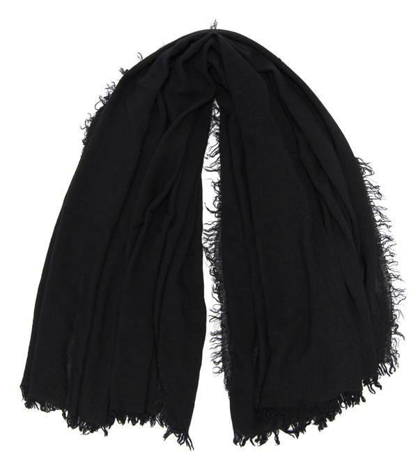 Wide stole in virgin wool, modal and cashmere made in Italy