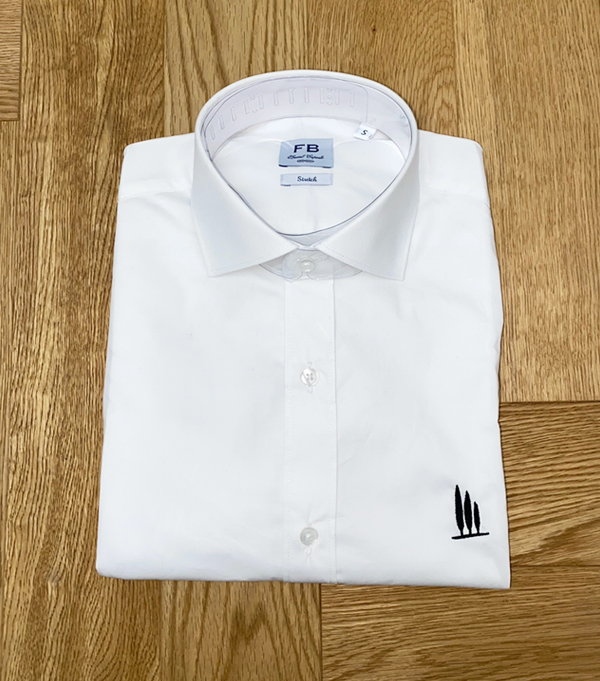 white man shirt in cotton by leopolda - made in italy