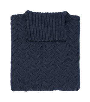 maglia dolcevita in merinos collo alto leopolda cashmere