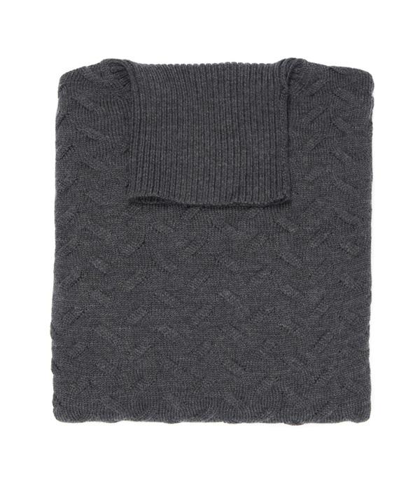 Merinos wool men's turtleneck pullover - made in italy