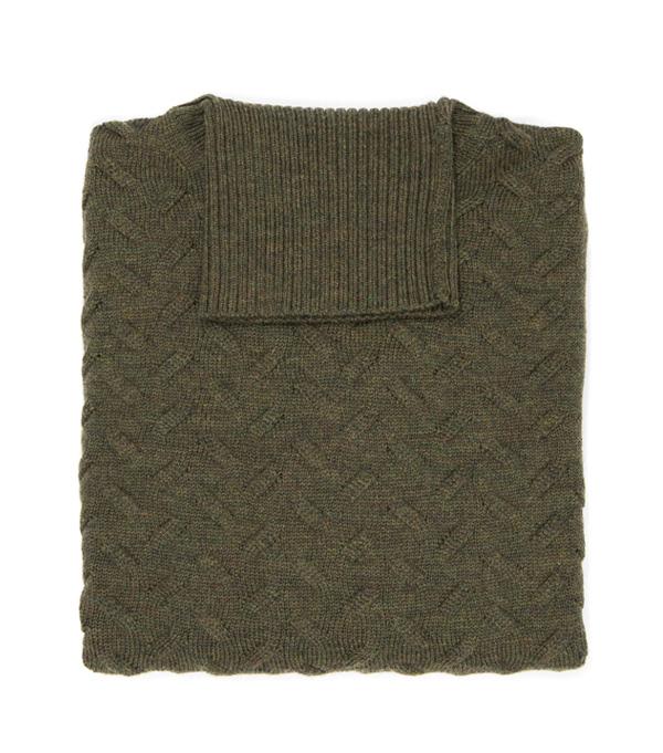 Merinos Turtle neck men's sweater - made in italy