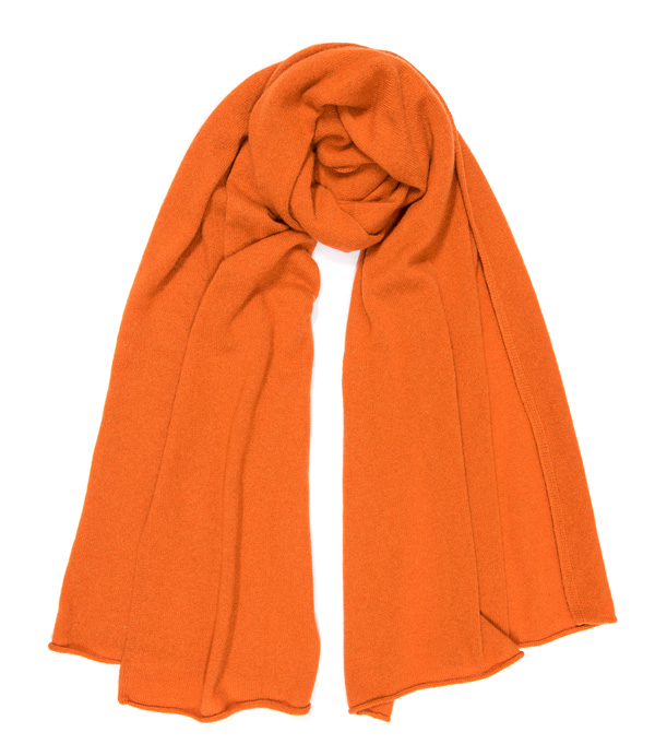 nvola stola in cashmere di colore arancio Leopolda