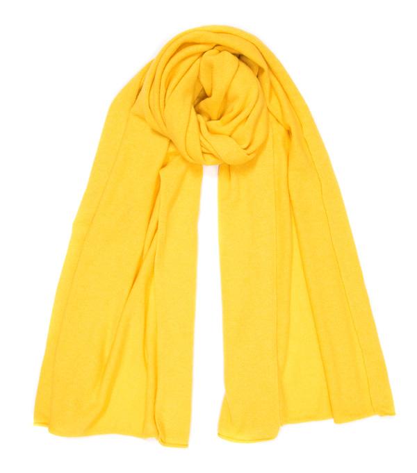 nuvola stola in cashmere di colore giallo leopolda