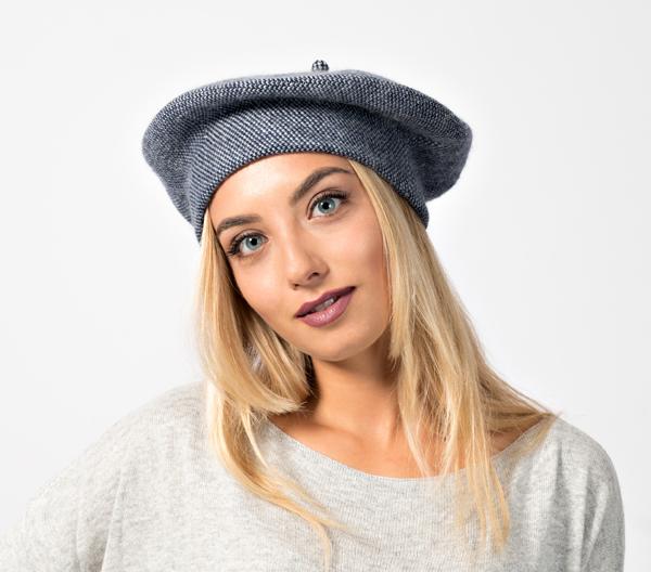 cappello basco alla francese da donna produzione italiana