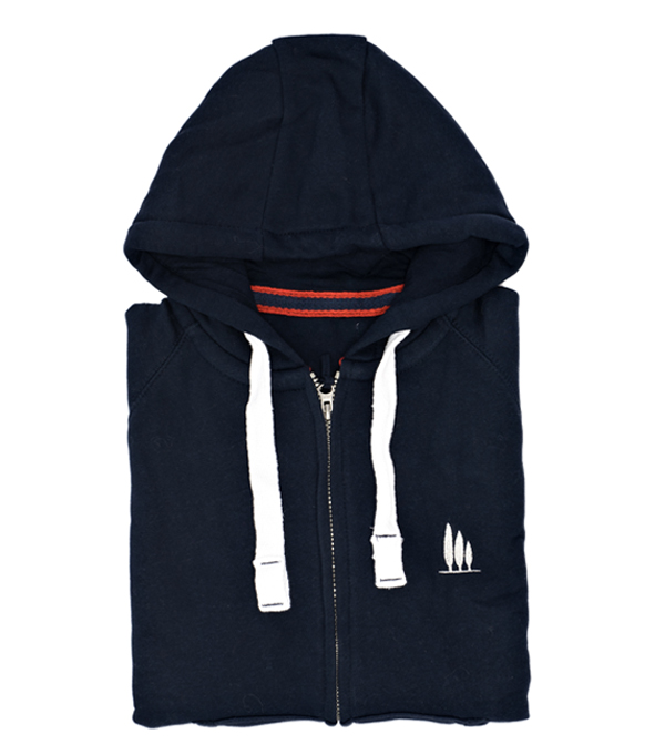 Bolgheri hooded track jacket made in italy