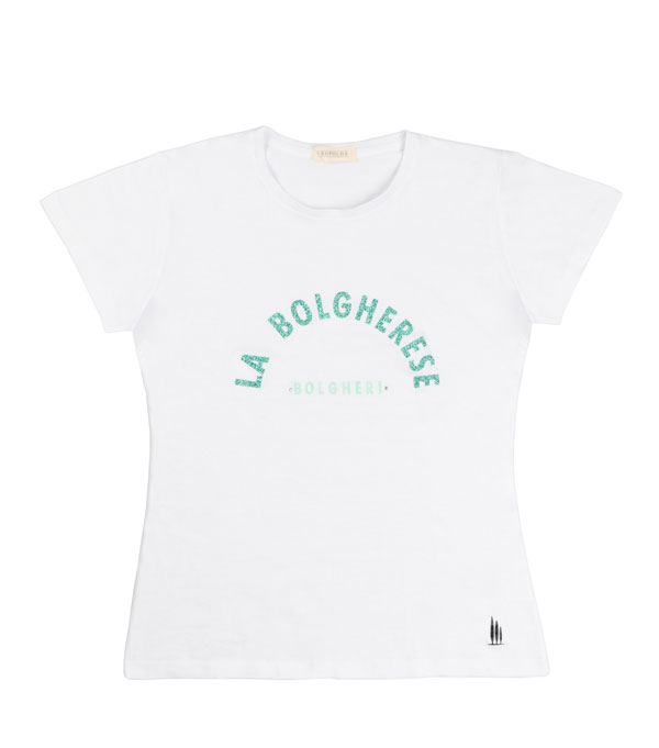 maglia t-shirt la bolgerese lurex verde  - Leopolda manifatture artigiane