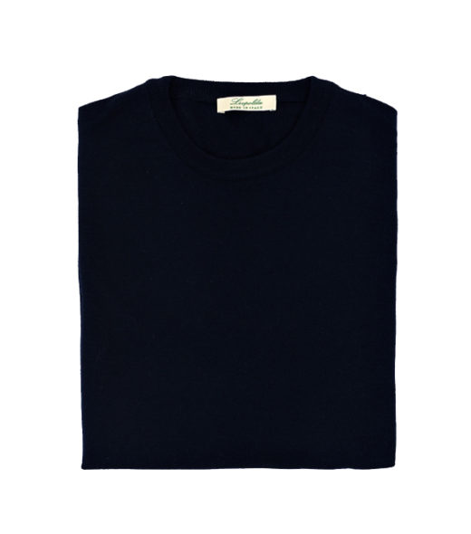 maglia merinos nero di leopolda cashmere italia