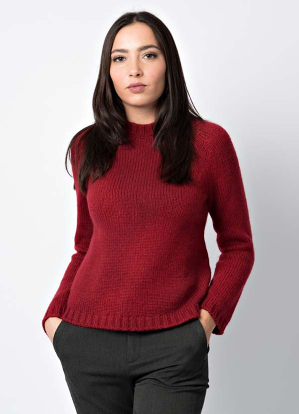 maglia over in cashmere per la donna made in Italy