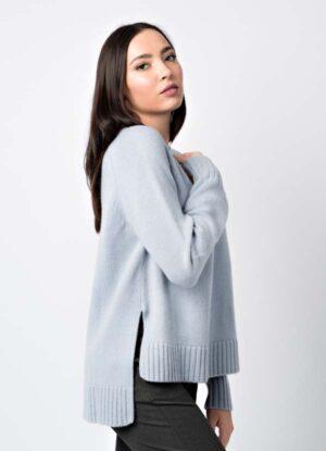 ampio maglione donna misto cashmere di produzione italiana leopolda bolgheri