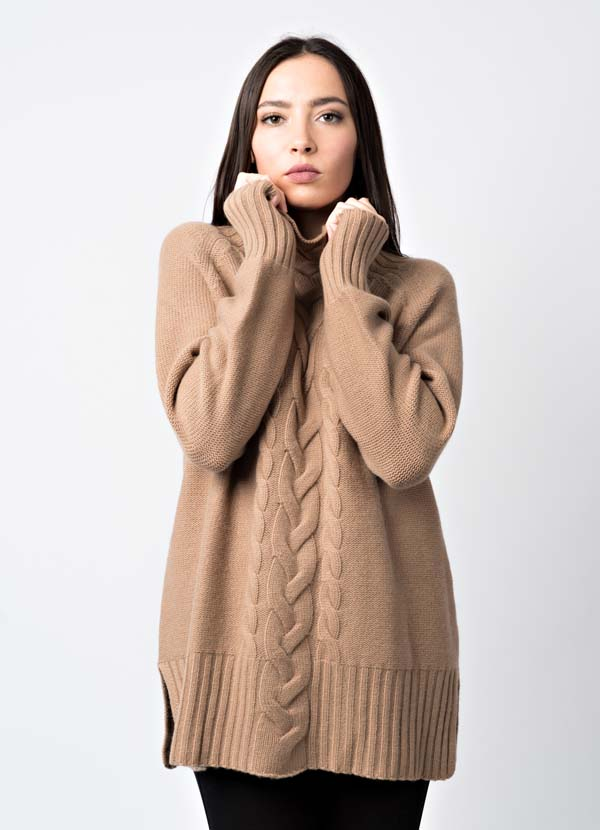 maglia donna over in  cashmere made in Italy
