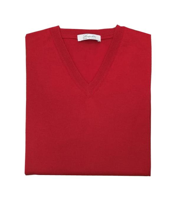 maglia scollo V lana merinos vendita online Leopolda manifatture artigiane