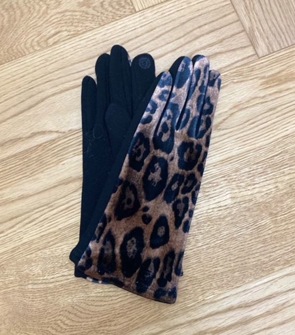leopard effect women's winter glove leopolda bolgheri