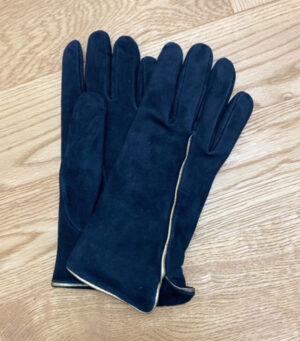 guanti donna in agnello di colore blu in vendita online