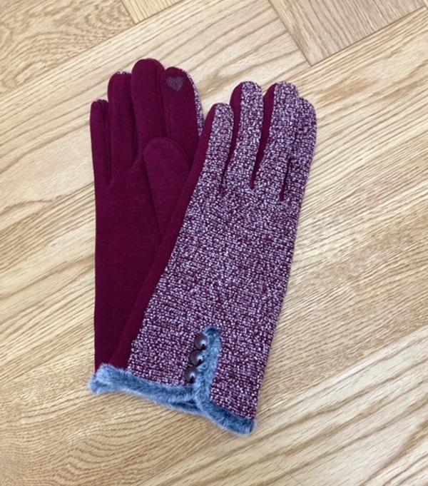 elegant winter glove burgundy leopolda bolgheri