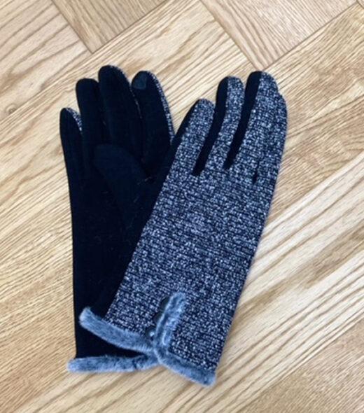 guanto invernale donna colore grigio melange in vendita online