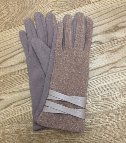 guanti donna cipria effetto lurex in vendita online