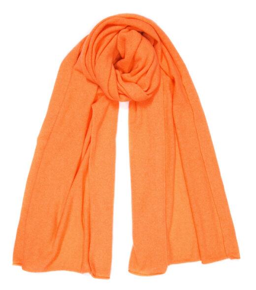 srola in cashmere colore arancio