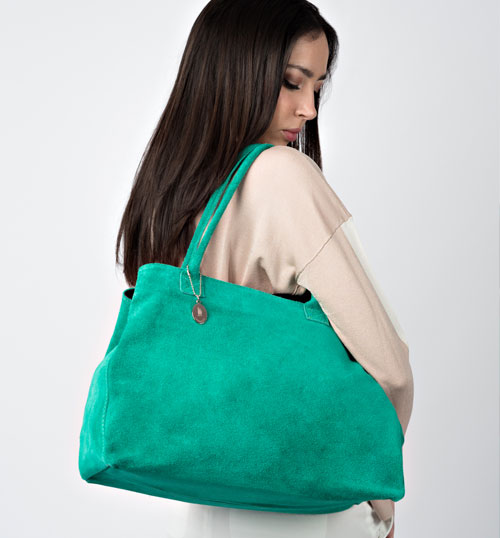 borsa donna in camoscio vendita online