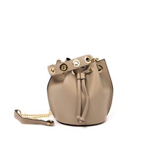 borsa donna colore nocciola in vera pelle vendita online