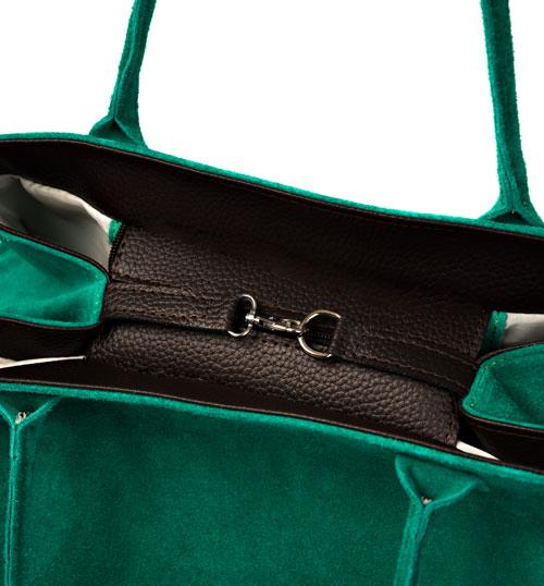 interno borsa donna in camoscio