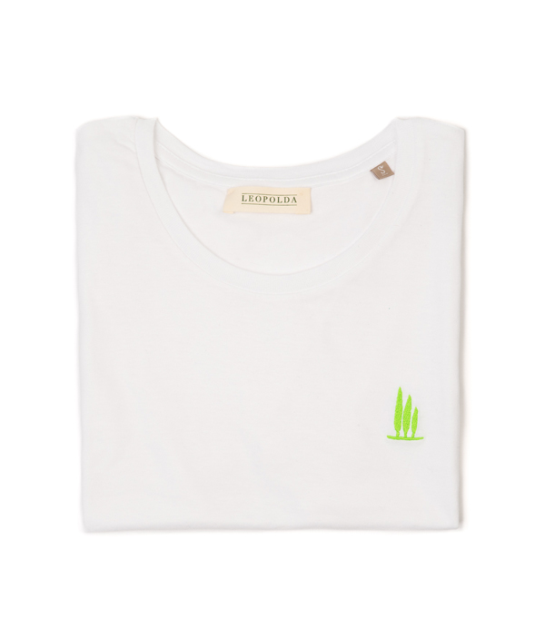 maglia t-shirt cotone bianco Leopolda - made in italy