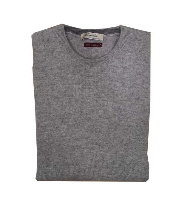 Man cashmere pullover crew neck color: Antracite