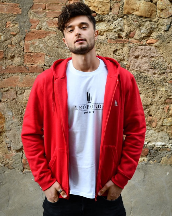 Hooded track jacket made in italy